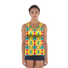 Colorful chains pattern Women s Sport Tank Top