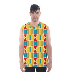 Colorful chains pattern Men s Basketball Tank Top