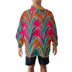 Bended shapes in retro colors Wind Breaker (Kids)
