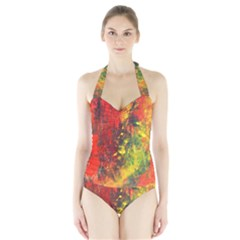 WILD Women s Halter One Piece Swimsuit