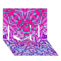 Ethnic Tribal Pattern G327 I Love You 3D Greeting Card (7x5)