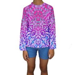 Ethnic Tribal Pattern G327 Kid s Long Sleeve Swimwear
