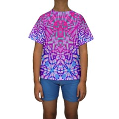 Ethnic Tribal Pattern G327 Kid s Short Sleeve Swimwear