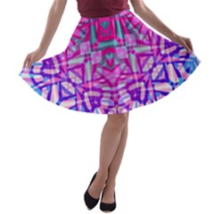 Ethnic Tribal Pattern G327 A-line Skater Skirt