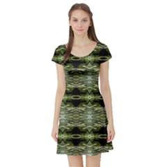 Calgary lit0611057015 Short Sleeve Skater Dress