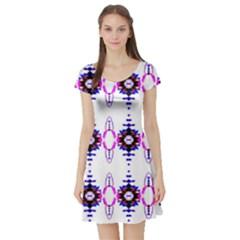 Lit040513004014 Short Sleeve Skater Dresses