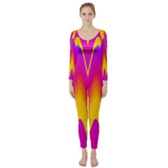 Love to the colors Long Sleeve Catsuit