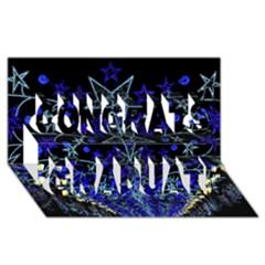 CHRISTMAS STARS Congrats Graduate 3D Greeting Card (8x4)