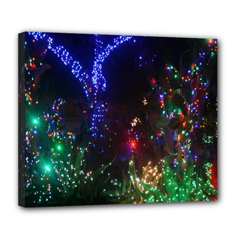 CHRISTMAS LIGHTS 2 Deluxe Canvas 24  x 20
