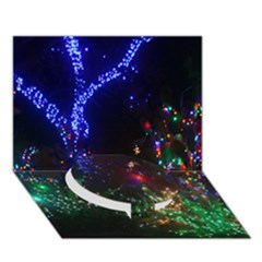 CHRISTMAS LIGHTS 2 Circle Bottom 3D Greeting Card (7x5)