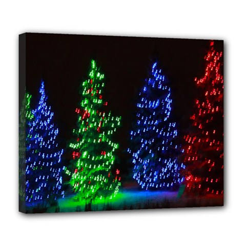 CHRISTMAS LIGHTS 1 Deluxe Canvas 24  x 20