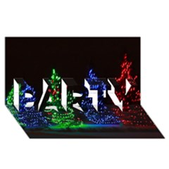 CHRISTMAS LIGHTS 1 PARTY 3D Greeting Card (8x4)