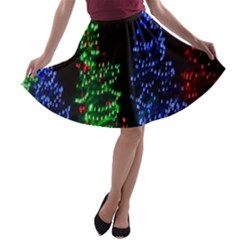 CHRISTMAS LIGHTS 1 A-line Skater Skirt