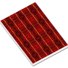 Red Gold, Old Oriental Pattern Large Memo Pads