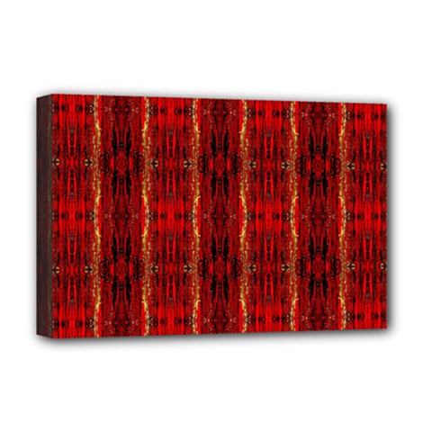 Red Gold, Old Oriental Pattern Deluxe Canvas 18  x 12