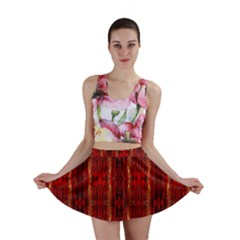 Red Gold, Old Oriental Pattern Mini Skirts
