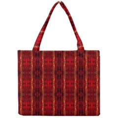 Red Gold, Old Oriental Pattern Tiny Tote Bags