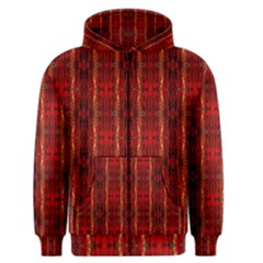 Red Gold, Old Oriental Pattern Men s Zipper Hoodies