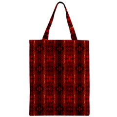 Red Gold, Old Oriental Pattern Zipper Classic Tote Bags