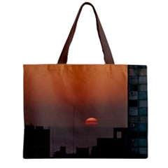 Aerial View Of Sunset At The River In Montevideo Uruguay Zipper Tiny Tote Bags