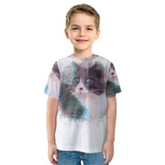 Cat Splash Png Kid s Sport Mesh Tees