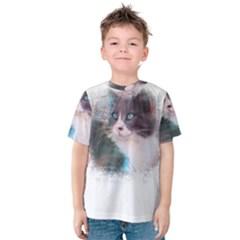 Cat Splash Png Kid s Cotton Tee