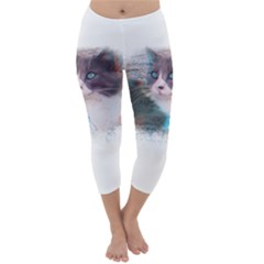 Cat Splash Png Capri Winter Leggings