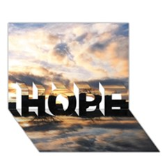 Sun Reflected On Lake Hope 3d Greeting Card (7x5)