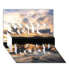 SUN REFLECTED ON LAKE You Rock 3D Greeting Card (7x5)