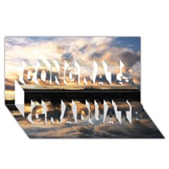 SUN REFLECTED ON LAKE Congrats Graduate 3D Greeting Card (8x4)