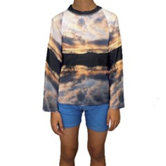 Sun Reflected On Lake Kid s Long Sleeve Swimwear