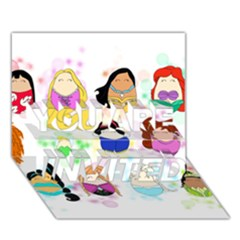 Disney Ladies YOU ARE INVITED 3D Greeting Card (7x5)