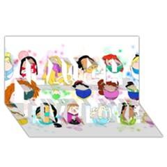 Disney Ladies Laugh Live Love 3D Greeting Card (8x4)