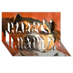 Jack Russell Terrier Happy Birthday 3D Greeting Card (8x4)