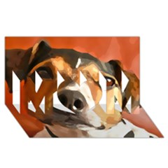 Jack Russell Terrier MOM 3D Greeting Card (8x4)