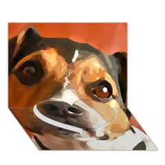 Jack Russell Terrier Heart Bottom 3d Greeting Card (7x5)