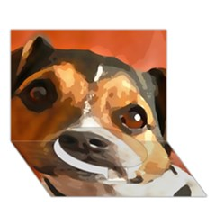 Jack Russell Terrier Circle Bottom 3d Greeting Card (7x5)