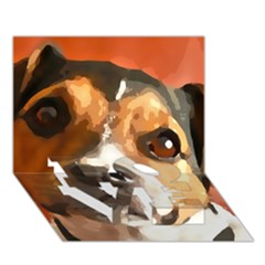 Jack Russell Terrier Love Bottom 3d Greeting Card (7x5)