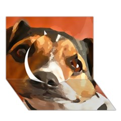 Jack Russell Terrier Circle 3D Greeting Card (7x5)
