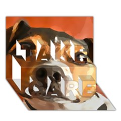 Jack Russell Terrier TAKE CARE 3D Greeting Card (7x5)