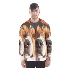 Jack Russell Terrier Hooded Wind Breaker (Men)