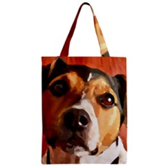 Jack Russell Terrier Zipper Classic Tote Bags