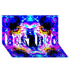 Animal Design Abstract Blue, Pink, Black Best Bro 3d Greeting Card (8x4)