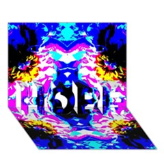 Animal Design Abstract Blue, Pink, Black HOPE 3D Greeting Card (7x5)
