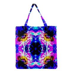 Animal Design Abstract Blue, Pink, Black Grocery Tote Bags