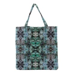 Green Black Gothic Pattern Grocery Tote Bags