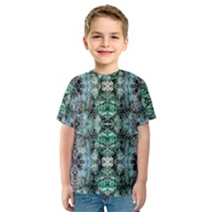 Green Black Gothic Pattern Kid s Sport Mesh Tees