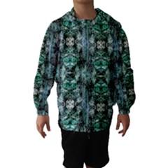 Green Black Gothic Pattern Hooded Wind Breaker (Kids)