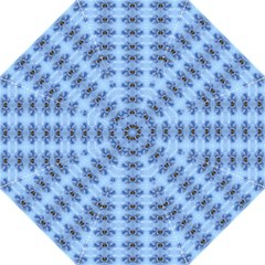 Pastel Blue Flower Pattern Golf Umbrellas