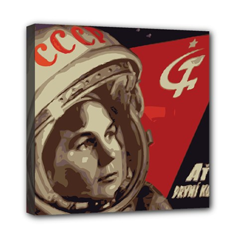 Soviet Union In Space Mini Canvas 8  X 8  (framed)